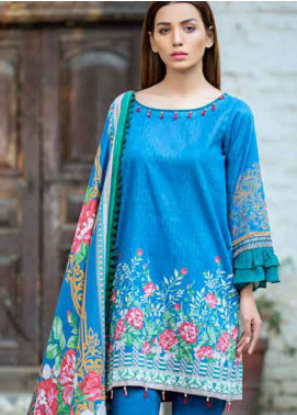 Gulkari Embroidered Lawn Unstitched 3 Piece Suit GKR19L 4B - Spring / Summer Collection
