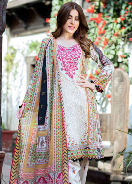Gulkari Embroidered Lawn Unstitched 3 Piece Suit GKR19L 5A - Spring / Summer Collection