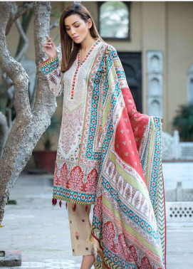 Gulkari Embroidered Lawn Unstitched 3 Piece Suit GKR19L 5B - Spring / Summer Collection