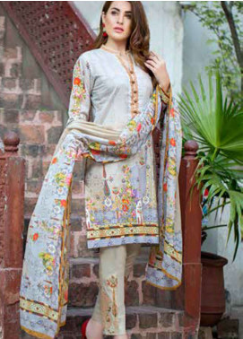 Gulkari Embroidered Lawn Unstitched 3 Piece Suit GKR19L 6B - Spring / Summer Collection