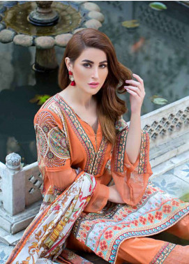 Gulkari Embroidered Lawn Unstitched 3 Piece Suit GKR19L 7A - Spring / Summer Collection