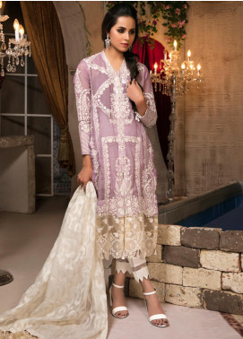 Guzellik by Zardaan Embroidered Khaadi Net Unstitched 3 Piece Suit GZK19ZD 08 Imperial Glow - Luxury Collection