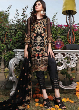 Hadia Eman Embroidered Chiffon Unstitched 3 Piece Suit HE20C D-04 - Luxury Collection