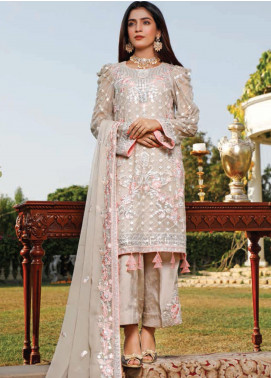 Hadia Eman Embroidered Chiffon Unstitched 3 Piece Suit HE20C D-05 - Luxury Collection