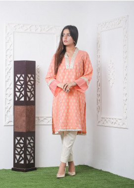 Hana Embroidered Jacquard Stitched Kurties Ladies Kurti HC0038 Jaqd Pink-S