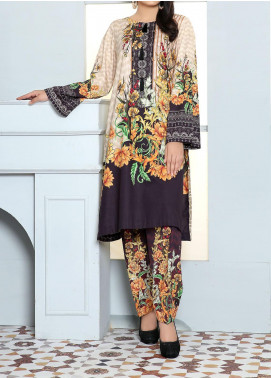 Hareer by Adan's Libas Printed Cambric Unstitched 2 Piece Suit AL20H 10 - Winter Collection