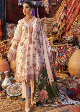 Hemline by Mushq Embroidered Linen Unstitched 3 Piece Suit MQ20HW 03 Rose Dust - Winter Collection