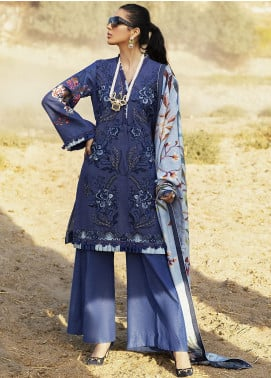 Hemline by Mushq Embroidered Karandi Unstitched 3 Piece Suit MQ20HW 10 Insignia - Winter Collection