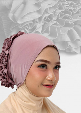 Oneto Hijab  Jersey  Hijab's Inner Cap HH Bunga Inner 05 Purple