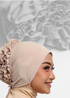 Oneto Hijab  Jersey  Hijab's Inner Cap HH Bunga Inner 07 Cream