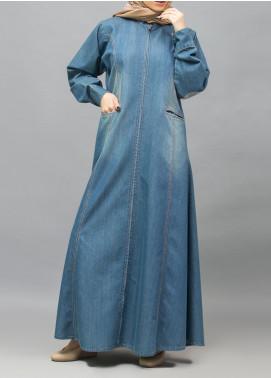 Hijab ul Hareem Casual Style Denim Stitched Abaya 0118-R-987