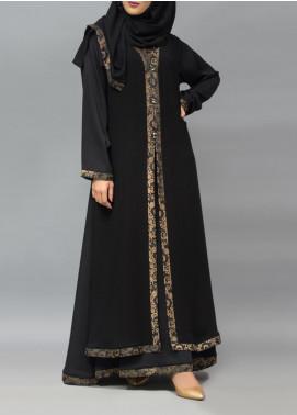 Hijab ul Hareem Pullover Jamawar Stitched Abaya 0120-R-905