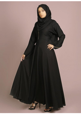 Hijab ul Hareem Pullover Polyester Stitched Abaya 0120-R-969-Black