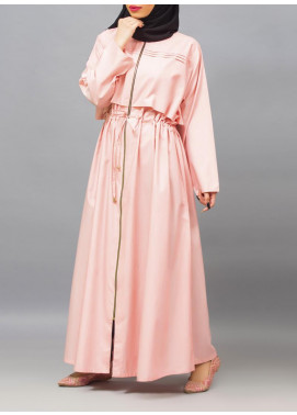 Hijab ul Hareem Casual Style Chambray Stitched Abaya 0121-R-953
