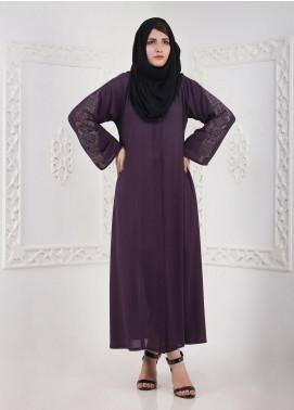Hijab ul Hareem Front Open Chiffon Stitched Abaya 0120-BC-A403