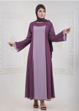 Hijab ul Hareem Front Close Chiffon Stitched Abaya A 0120-B-A405