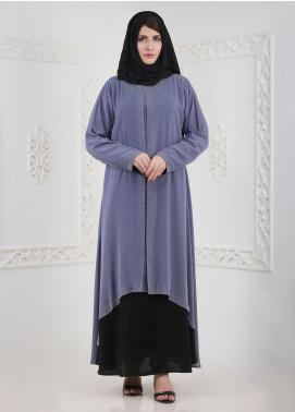Hijab ul Hareem Front Close Chiffon Stitched Abaya A 0120-BC-A402