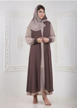 Hijab ul Hareem Inner Front Close Chiffon Stitched Abaya A 0124-BC-A406