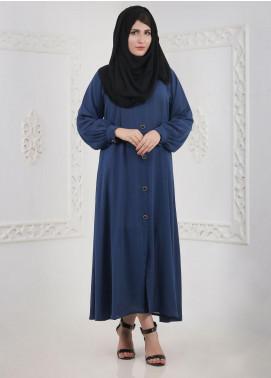 Hijab ul Hareem Front Open Chiffon Stitched Abaya H-0118-B-119