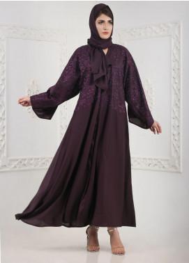 Hijab ul Hareem Front Open Nida Stitched Abaya A 0116-K-A379