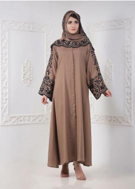 Hijab ul Hareem Front Open Georgette Stitched Abaya A 0121-K-A360