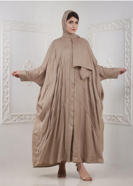 Hijab ul Hareem Front Open Nida Stitched Abaya A JILBAB-RC-A416 GOLDEN