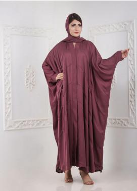 Hijab ul Hareem Front Open Nida Stitched Abaya A JILBAB-RC-A416 MAROON