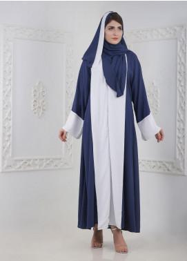Hijab ul Hareem Front Open Crepe Stitched Abaya H-0116-R-122