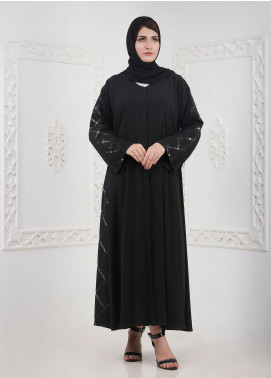 Hijab ul Hareem Front Open Georgette Stitched Abaya H-0121-RC-102