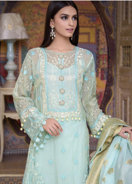 Honey Waqar by Regalia Textiles Embroidered Chiffon Unstitched 3 Piece Suit RGT20HW Jahan Ara - Luxury Collection