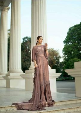 Honey Waqar By ZS Textile Embroidered Chiffon Unstitched 3 Piece Suit HWC19EC 02 Le Miroir - Luxury Collection
