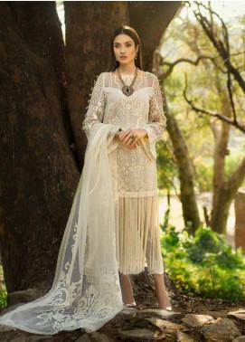 Honey Waqar By ZS Textile Embroidered Organza Unstitched 3 Piece Suit HWC19EC 06 Laisse Le Rouge - Luxury Collection