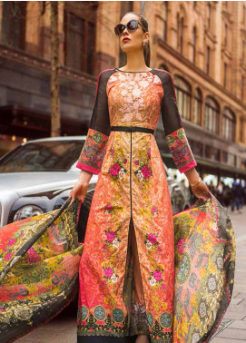 Honey Waqar Embroidered Lawn Unstitched 3 Piece Suit HW19F 11B EAST SWEETS - Festive Collection