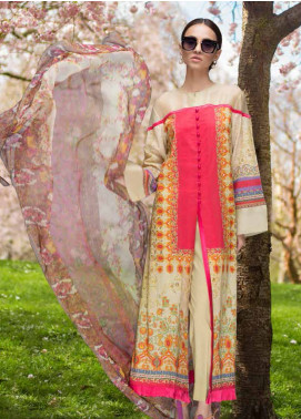 Honey Waqar Embroidered Lawn Unstitched 3 Piece Suit HW19F 12A NORTHERN DVINA - Festive Collection