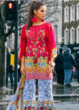 Honey Waqar Embroidered Lawn Unstitched 3 Piece Suit HW19F 3A VASILISA THE BEAUTIFUL - Festive Collection