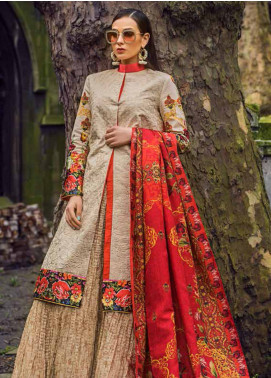 Honey Waqar Embroidered Lawn Unstitched 3 Piece Suit HW19F 7B BOGINYA BOTANICA - Festive Collection