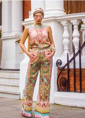 Honey Waqar Embroidered Lawn Unstitched 3 Piece Suit HW19F 8B SYMPHONIC FLORAL - Festive Collection