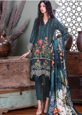 Hoor by Riaz Arts Embroidered Cottel Linen Unstitched 3 Piece Suit RA20CL 28 - Winter Collection