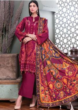 Hoor by Riaz Arts Embroidered Cottel Linen Unstitched 3 Piece Suit RA20CL 29 - Winter Collection