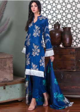 Hoor by Riaz Arts Embroidered Cottel Linen Unstitched 3 Piece Suit RA20CL 31 - Winter Collection