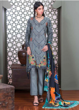 Hoor by Riaz Arts Embroidered Cottel Linen Unstitched 3 Piece Suit RA20CL 32 - Winter Collection