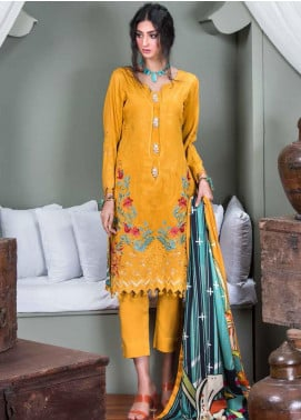 Hoor by Riaz Arts Embroidered Cottel Linen Unstitched 3 Piece Suit RA20CL 33 - Winter Collection