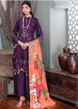 Hoor by Riaz Arts Embroidered Cottel Linen Unstitched 3 Piece Suit RA20CL 34 - Winter Collection