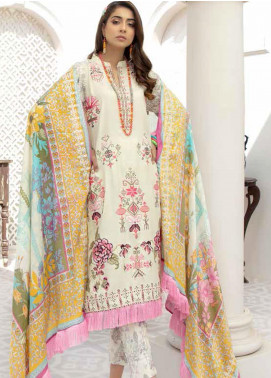 Hoor by Riaz Arts Embroidered Leather Peach Unstitched 3 Piece Suit RA20HL D-20 - Winter Collection