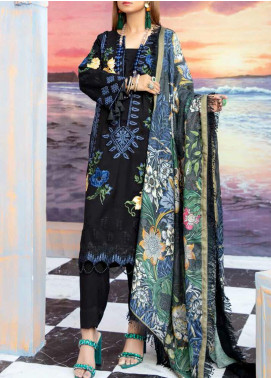 Hoor by Riaz Arts Embroidered Leather Peach Unstitched 3 Piece Suit RA20WSH 01 - Winter Collection