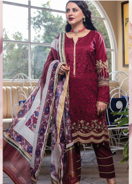 Lakha's Textiles Embroidered Lawn Unstitched 3 Piece Suit LK20HL 1 - Spring / Summer Collection