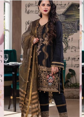 Lakha's Textiles Embroidered Lawn Unstitched 3 Piece Suit LK20HL 3 - Spring / Summer Collection