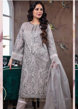 Lakha's Textiles Embroidered Lawn Unstitched 3 Piece Suit LK20HL 4 - Spring / Summer Collection