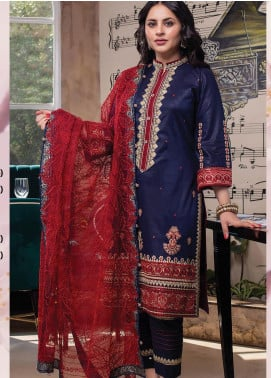 Lakha's Textiles Embroidered Lawn Unstitched 3 Piece Suit LK20HL 5 - Spring / Summer Collection