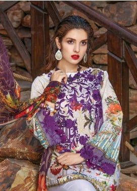 Peridot Embroidered Lawn Unstitched 3 Piece Suit PD18L 109 - Spring / Summer Collection